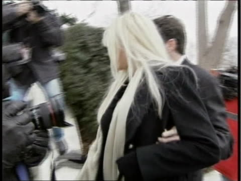 anna nicole smith arrives at the supreme court building on 2/28/06 for the hearing involving her late husband's estate. - anna nicole smith stock videos & royalty-free footage