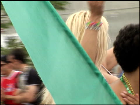 anna nicole smith at the 2005 gay pride parade on june 12, 2005. - anna nicole smith stock videos & royalty-free footage