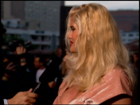 anna nicole smith at the 'jury duty' premiere on april 19, 1995. - anna nicole smith stock videos & royalty-free footage