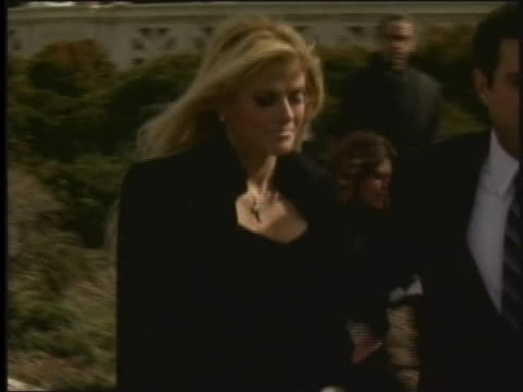 anna nicole smith departs the supreme court on 2/28/06 after the hearing involving her late husbandõs estate. - anna nicole smith stock videos & royalty-free footage
