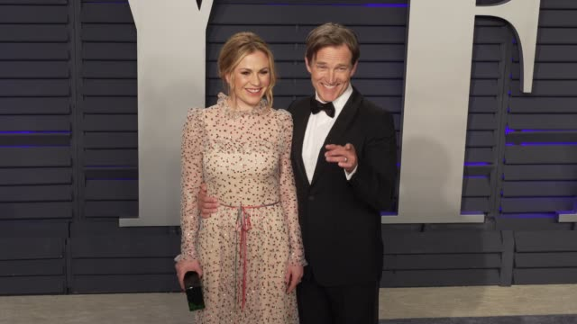 Anna Paquin and Stephen Moyer at 2019 Vanity Fair Oscar Party Hosted By Radhika Jones at Wallis Annenberg Center for the Performing Arts on February...