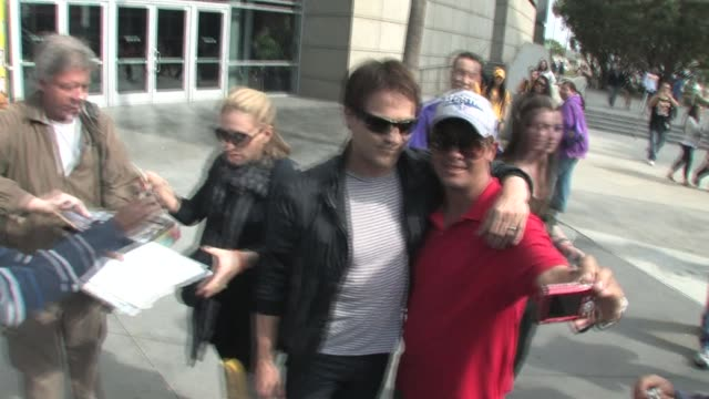 Anna Paquin and Stephen Moyer at STAPLES Center in Los Angeles