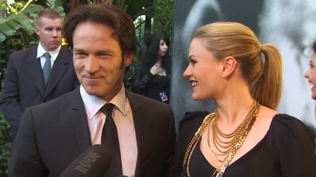 Anna Paquin and Stephen Moyer at the 2010 Vanity Fair Oscar Party Hosted By Graydon Carter at West Hollywood CA
