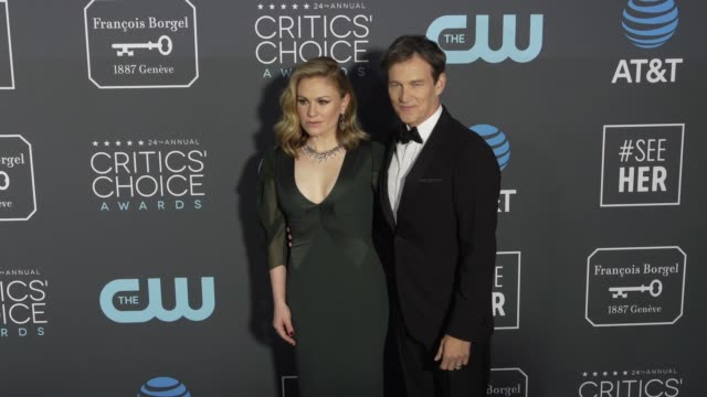 Anna Paquin and Stephen Moyer at the 24th Annual Critics' Choice Awards at Barker Hangar on January 13 2019 in Santa Monica California