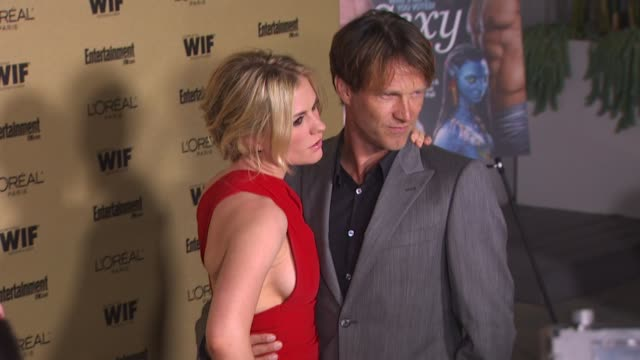anna paquin and stephen moyer at the entertainment weekly and women in film preemmy party at west hollywood ca - pre emmy party stock videos & royalty-free footage