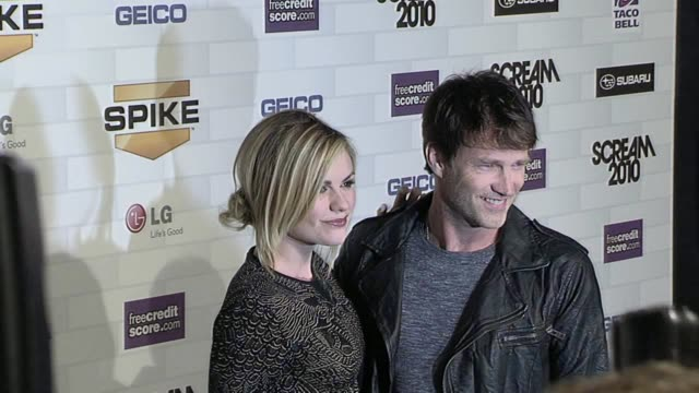 Anna Paquin and Stephen Moyer at the Spike TV's 'Scream 2010' at Los Angeles CA