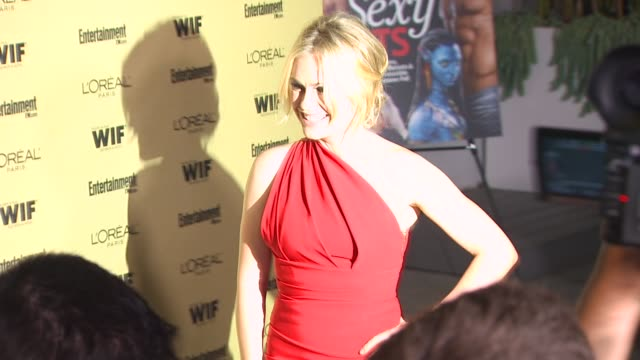 anna paquin at the entertainment weekly and women in film preemmy party at west hollywood ca - pre emmy party stock videos & royalty-free footage