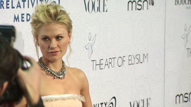 Anna Paquin at the The Art of Elysium's 3rd Annual Black Tie Charity Gala 'Heaven' at Beverly Hills CA