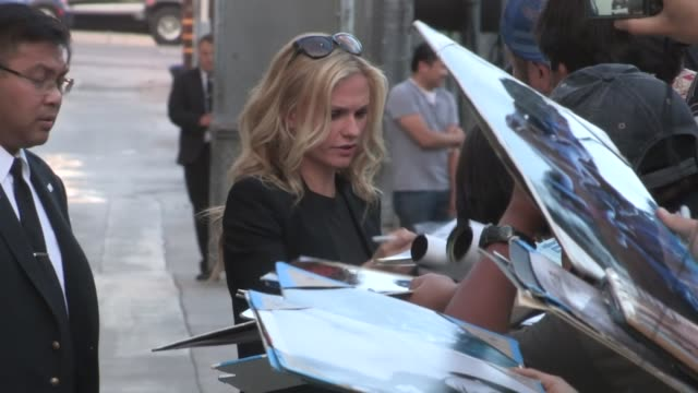 Anna Paquin inscribes her love to fans in Hollywood at Celebrity Sightings in Los Angeles Anna Paquin inscribes her love to fans in on June 20 2013...