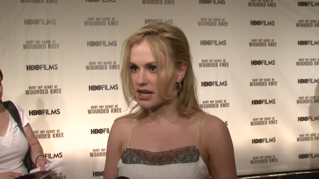 Anna Paquin on playing 'Elaine Goodale' empathy for her character and intrigue with the historical period she studied as part of her role at the...