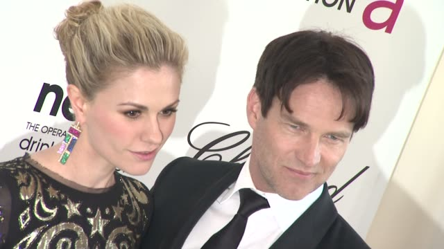 Anna Paquin Stephen Moyer at Elton John Aids Foundation Celebrates 20th Annual Academy Awards Viewing Party on 2/26/12 in Hollywood CA