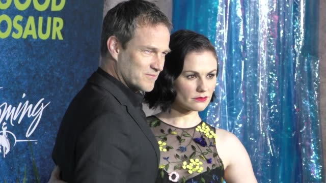 Anna Paquin Stephen Moyer at The Good Dinosaur Premiere at El Capitan Theatre in Hollywood at Celebrity Sightings in Los Angeles on November 17 2015...