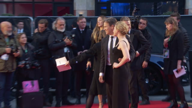 anna paquin stephen moyer at 'the irishman' international premiere 63rd bfi london film festival closing carpet on october 13 2019 in london england - premiere stock-videos und b-roll-filmmaterial