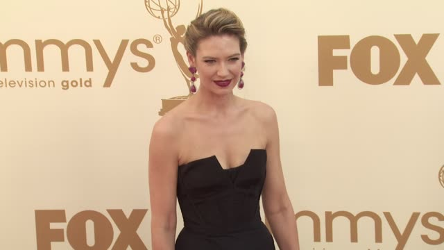 anna torv at the 63rd primetime emmy awards arrivals part 1 at los angeles ca - 63rd annual primetime emmy awards stock videos and b-roll footage