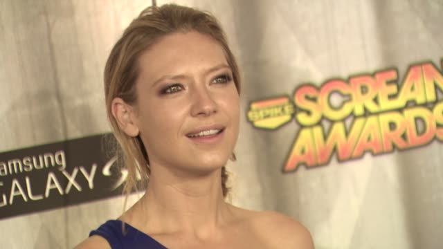 anna torv at the spike tv's 'scream awards at universal city ca - universal city stock videos & royalty-free footage