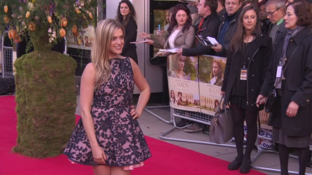anna williamson at 'a little chaos premiere' at odeon kensington on april 13 2015 in london england - odeon cinemas stock videos & royalty-free footage