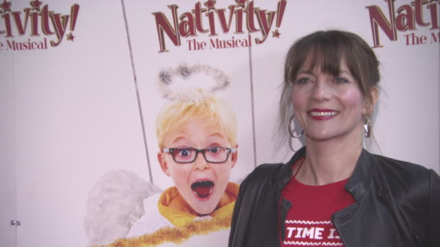 Anna WilsonJones at 'Nativity The Musical' London premiere at Eventim Apollo Hammersmith on December 14 2017 in London England