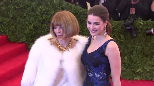 Anna Wintour and Bee Shaffer at Schiaparelli And Prada Impossible Conversations Costume Institute Gala at Metropolitan Museum of Art on May 07 2012...