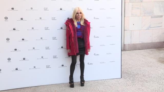 Anna Wintour and Donatella Versace attends Italiana L'Italia Vista Dalla Moda 19712001 exhibition preview during the Ready to Wear Fall Winter 2018...