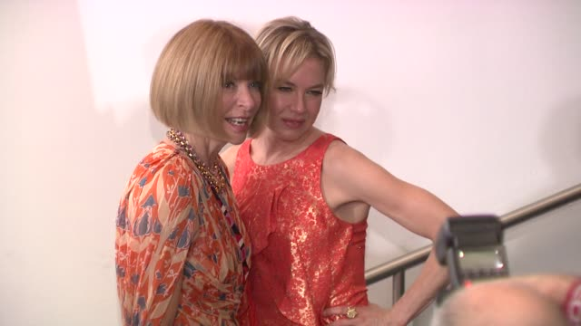 anna wintour and renee zellweger at the new york special screening of the september issue at new york ny - renée zellweger stock videos and b-roll footage