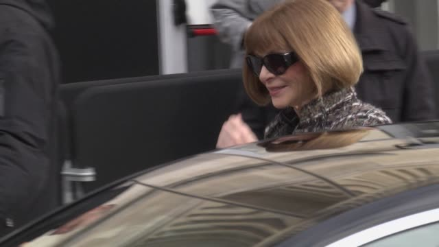 Anna Wintour arrives at Chanel Fashion Show during the Paris Fashion Week Womenswear Fall/Winter 2018/2019 on March 6 2018 in Paris France