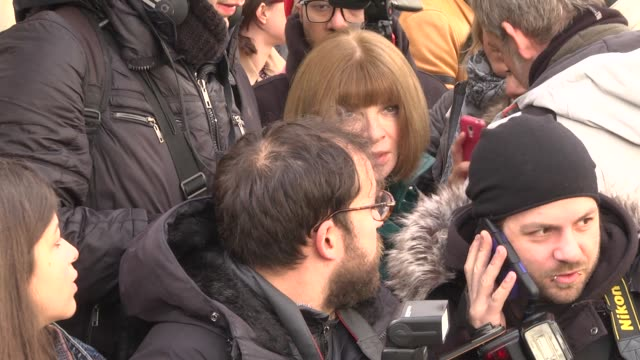 Anna Wintour arrives at the Valentino show as part of the Paris Fashion Week Womenswear Fall/Winter 2017/2018 on March 5 2017 in Paris France