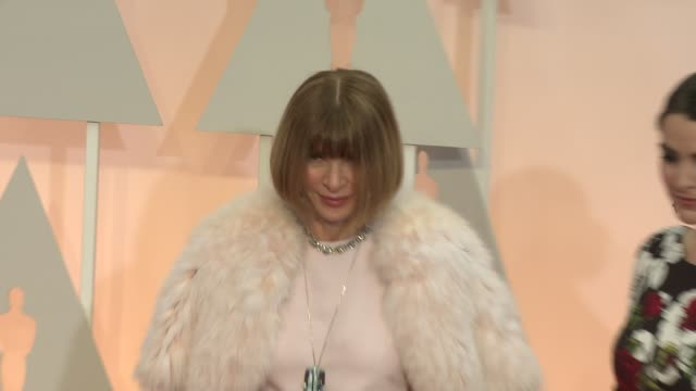 Anna Wintour at 87th Annual Academy Awards Arrivals at Dolby Theatre on February 22 2015 in Hollywood California