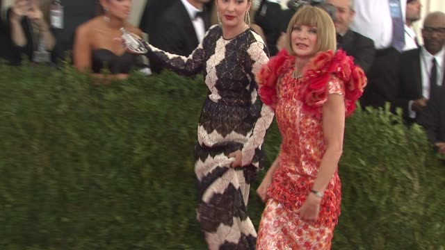 Anna Wintour at China Through The Looking Glass Costume Institute Benefit Gala Arrivals at Metropolitan Museum of Art on May 04 2015 in New York City