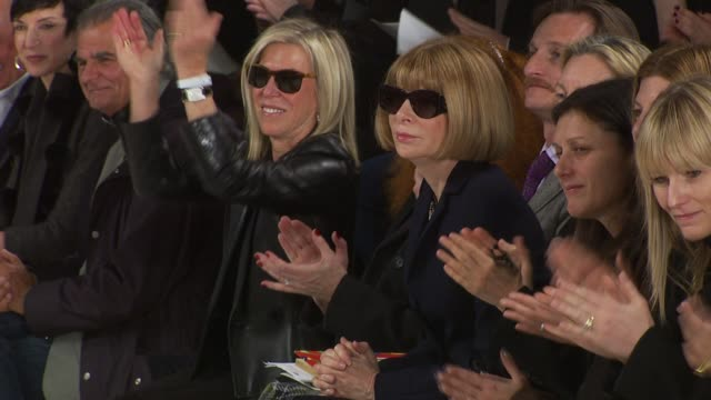 Anna Wintour at front row at the Ralph Lauren Fall 2010 collection during MercedesBenz Fashion Week Fall 2010 at the Ralph Lauren Fall 2010 MBFW at...