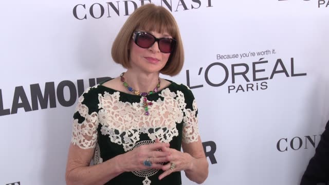 Anna Wintour at Glamour's 2017 Women Of The Year on November 13 2017 in New York City
