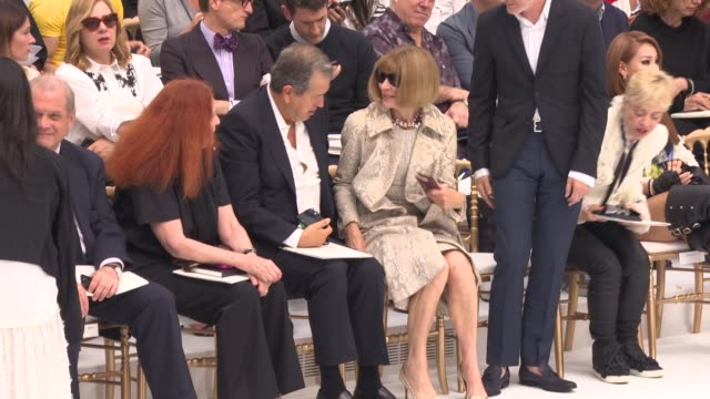 Anna Wintour at Haute Couture 2014 Chanel runway at Grand Palais on July 08 2014 in Paris France