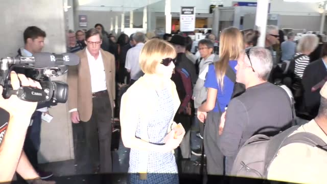 Anna Wintour at Los Angeles International Airport at Celebrity Sightings in Los Angeles on April 16 2016 in Los Angeles California
