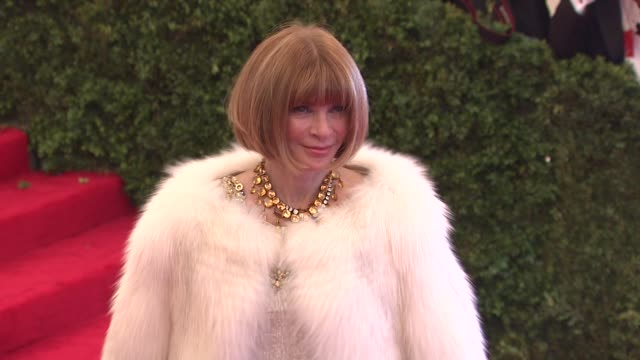 Anna Wintour at Schiaparelli And Prada Impossible Conversations Costume Institute Gala at Metropolitan Museum of Art on May 07 2012 in New York New...
