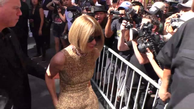 Anna Wintour at Skylight Modern on September 16 2015 in New York City