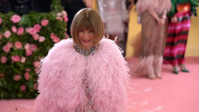 Anna Wintour at The 2019 Met Gala Celebrating Camp Notes on Fashion Arrivals at Metropolitan Museum of Art on May 06 2019 in New York City