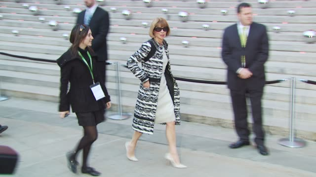 anna wintour at the 9th annual tribeca film festival - vanity fair party at new york ny. - tribeca festival stock videos & royalty-free footage