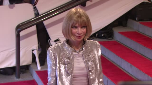 Anna Wintour at the 'American Woman Fashioning A National Identity' Met Gala Arrivals at New York NY