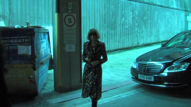 Anna Wintour at the London Fashion Week Celebrity Sightings at London England