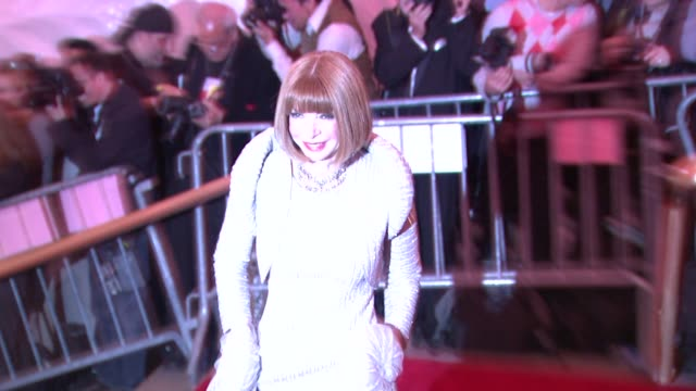 anna wintour at the superheroes fashion and fantasy costume institute gala at the metropolitan museum of art at the metropolitan museum of art in new... - 2008 stock videos & royalty-free footage
