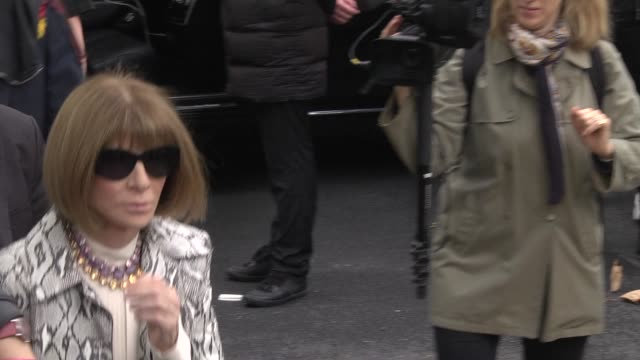 anna wintour attends the valentino womenswear spring/summer 2020 show as part of paris fashion week on september 29 2019 in paris france - paris fashion week stock videos & royalty-free footage