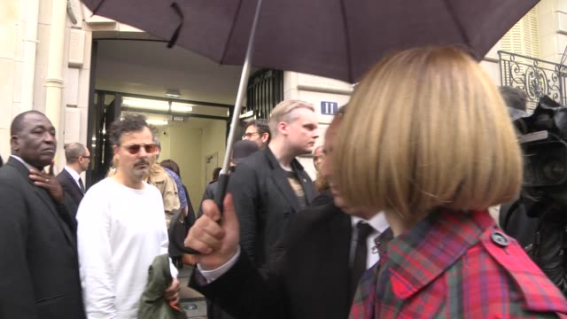 Anna Wintour exits the Chloe show as part of the Paris Fashion Week Womenswear Spring/Summer 2018 on September 28 2017 in Paris France