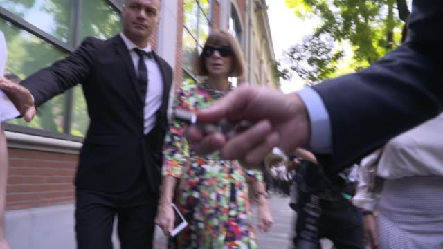 Anna Wintour is seen during Milan Fashion Week Spring/Summer 2019 on September 20 2018 in Milan Italy