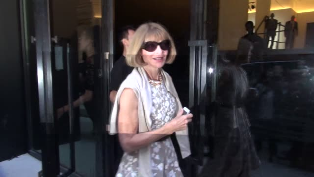 Anna Wintour leaving the Michael Kors Spring 2015 Fashion Show on September 10 2014 in New York City