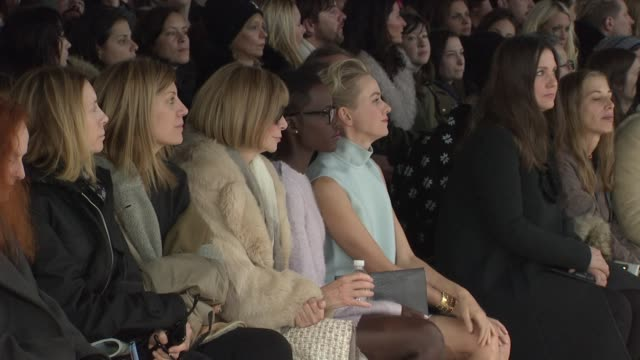 Anna Wintour Lupita Nyong'o and Naomi Watts Calvin Klein Fall 2014 MercedesBenz Fashion Week at Spring Studios on February 13 2014 in New York City