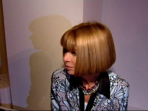 Anna Wintour on being impressed with the British Fashion Council and on how British Fashion Houses like Pringle have made a comeback on the sense of...