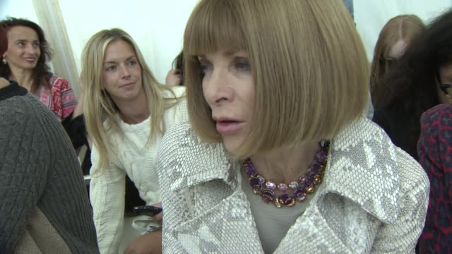 Anna Wintour on Erdem Moralioglu's collection London being a creative hub on her favorite shows at Erdem London Fashion Week Spring/Summer 2013 on...
