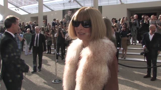 anna wintour on influencing designers, on at the burberry prorsum: london fashion week s/s 2011 at london england. - interview raw footage stock videos & royalty-free footage