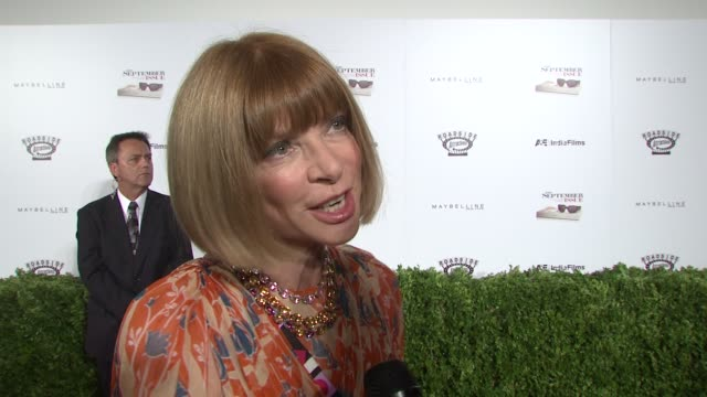 Anna Wintour on why she decided to open the doors of Vogue to the cameras and why the september issue is largest and most special Also talks about...