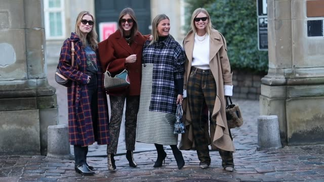 Annabel Rosendahl Darja Barannik Janka Polliani and Tine Andrea are seen outside MUF10 during the Copenhagen Fashion Week Autumn/Winter 2019 Day 1 on...