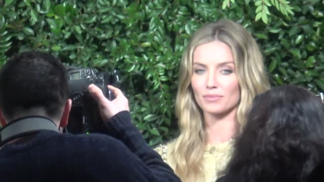 Annabelle Wallis at the Charles Finch and Chanel PreAcademy Awards dinner at Madeo in Beverly Hills at Celebrity Sightings in Los Angeles on March 03...